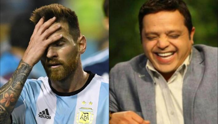 صورة تعليق ساخر من محمد هنيدي على هزيمة الأرجنتين من منتخب فرنسا
