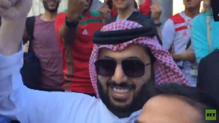 مغاربة يصادفون آل الشيخ في موسكو