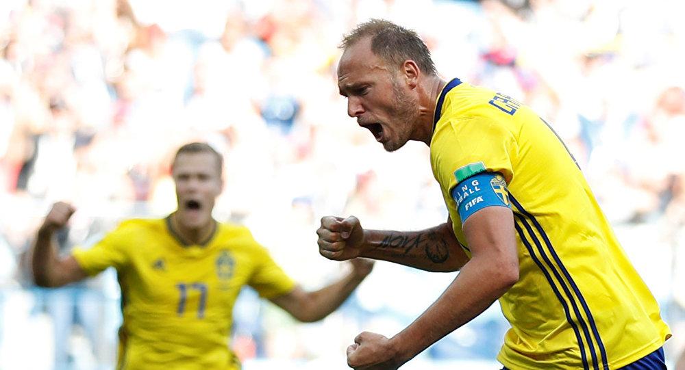السويد تخطف التأهل لربع نهائي المونديال من سويسرا