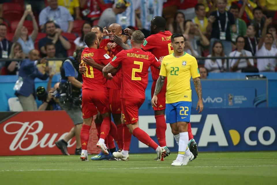 بلجيكا تفوز على البرازيل