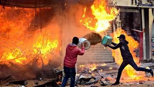 صورة حريق هائل في منزل بمركز الزقازيق والحماية المدنية تتدخل