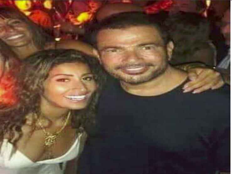 صورة ماذا فعلت دينا الشربيني خلال حفل عمرو دياب باليونان؟