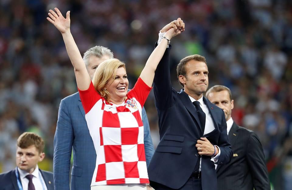 صورة تعليق رئيسة كرواتيا بعد الهزيمة من فرنسا بنهائي كأس العالم