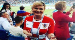 رئيسة كرواتيا بعد تأهل منتخب بلادها