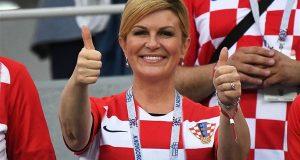 فرحة جنونية لرئيسة كرواتيا