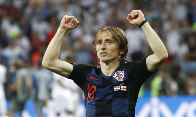 صورة لوكا مودريتش أفضل لاعب في كأس العالم 2018