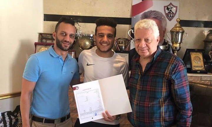 صورة مصطفى فتحي يجدد عقده مع الزمالك 4 سنوات