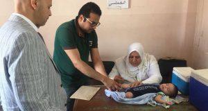 وكيل صحة الشرقية يتابع أول أيام التطعيم ضد شلل الأطفال