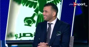 عماد متعب في استديو مباراة الأهلي والمصري