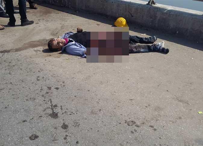 لحظة تفجير الارهابي نفسه قرب «كنيسة مسطرد»