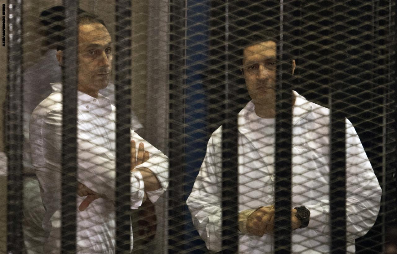 صورة النقض ترفض تصالح مبارك ونجليه في القصور الرئاسية