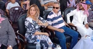 توفيق عكاشة وزوجته