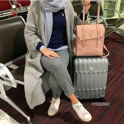 صورة ملابس شتوية للمحجبات 2019 أنيقة