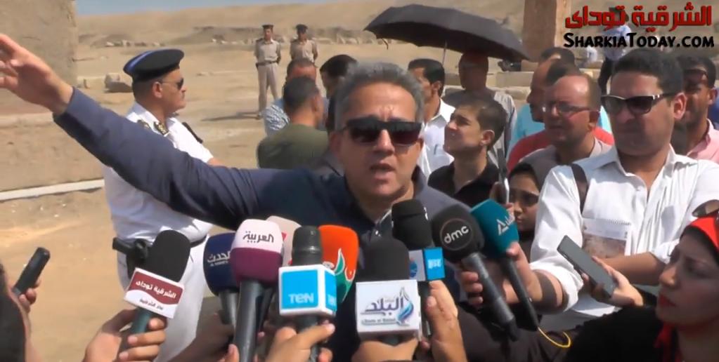 صورة وزير الآثار عن صان الحجر: نحاول تأهيل المنطقة لتستقبل الأجانب