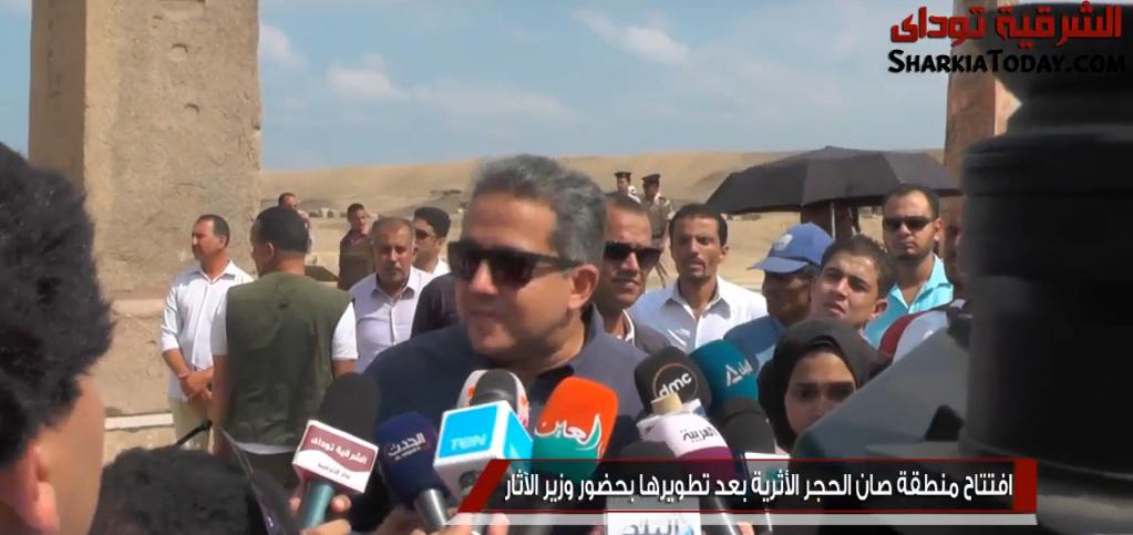 وزير الآثار يكشف سبب زيارته لصان الحجر