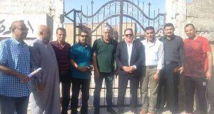 أحمد شوبير يزور مدينة القنايات ويعد بتسليم الملعب