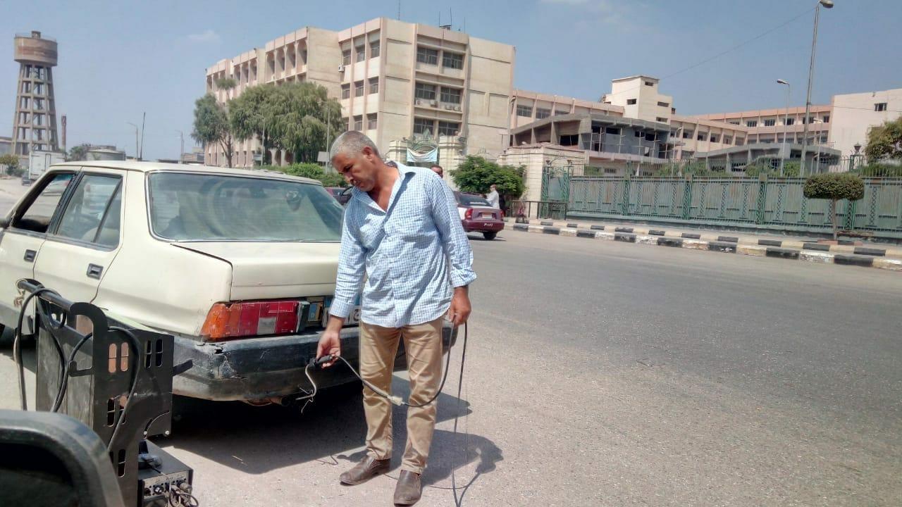 صورة حملات مفاجئة لفحص عوادم المركبات بالشرقية