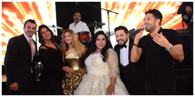 صورة شيماء سيف تصرخ في وجه حماقي خلال حفل زفافها
