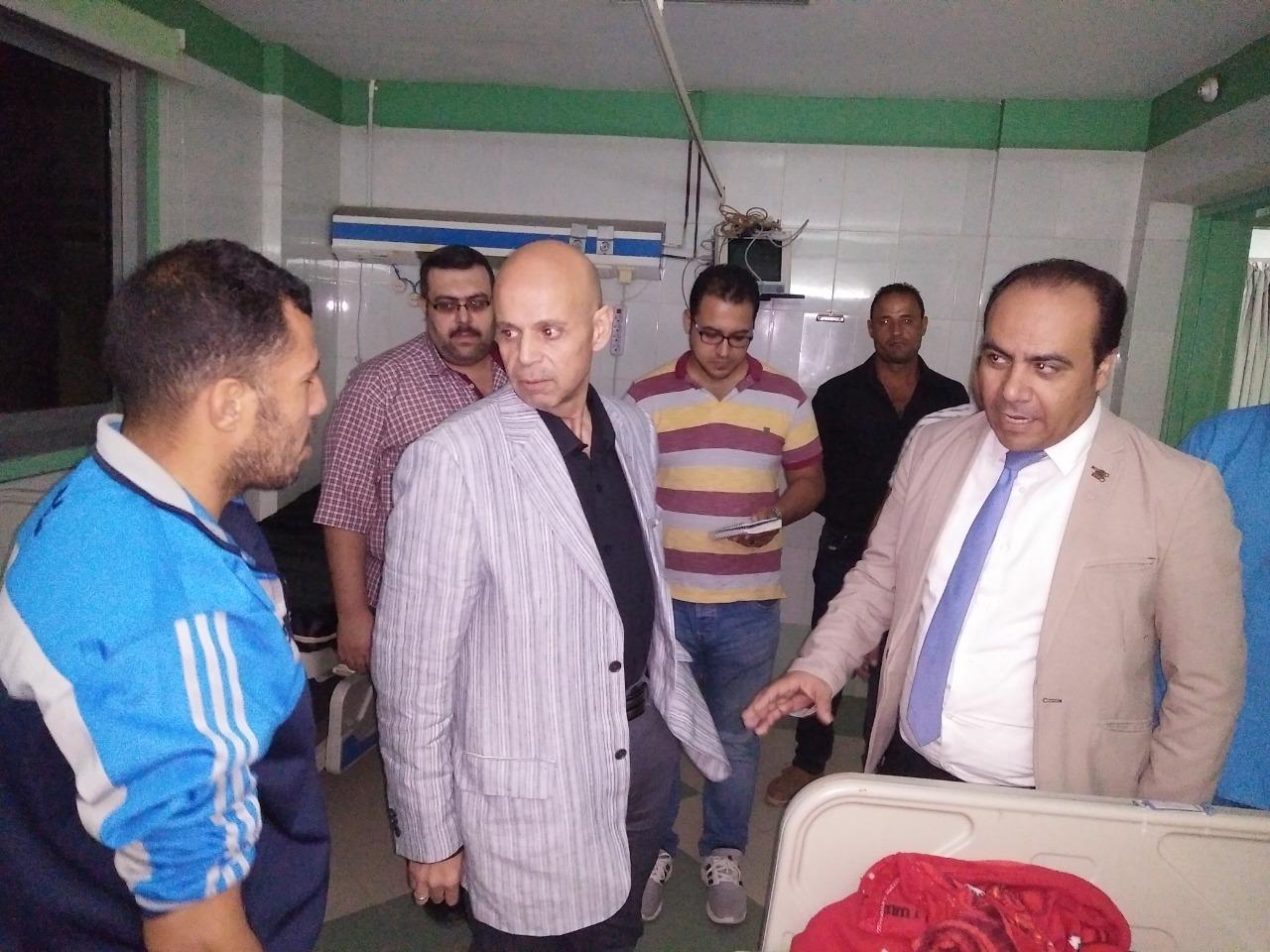 صورة وكيل وزارة الصحة بالشرقية يزور مستشفي ههيا المركزي