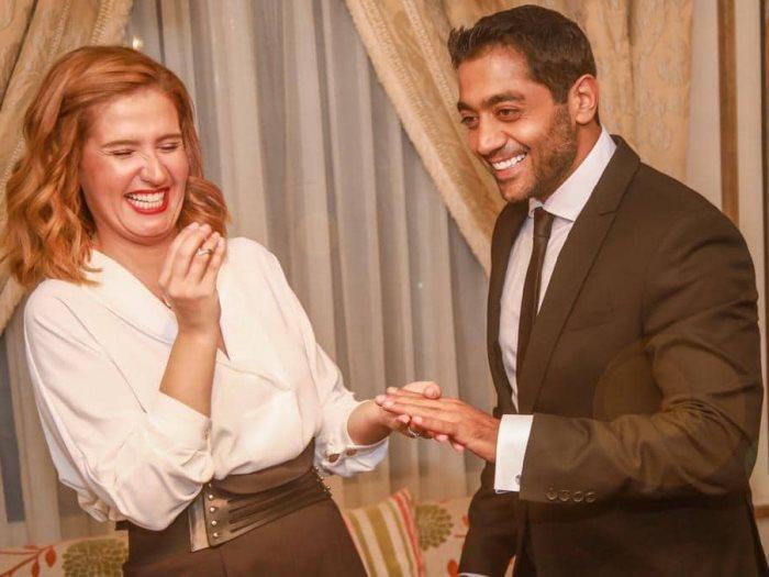 صورة أول ظهور لهنا شيحة وأحمد فلوكس بعد زواجهما