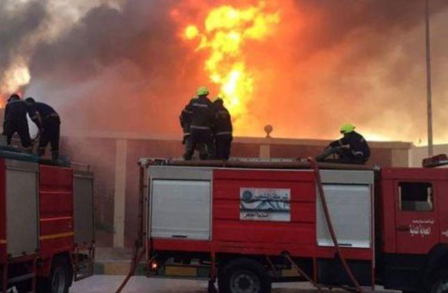 صورة عقب سيجارة يسبب حريق بمدرسة إعدادي بالشرقية
