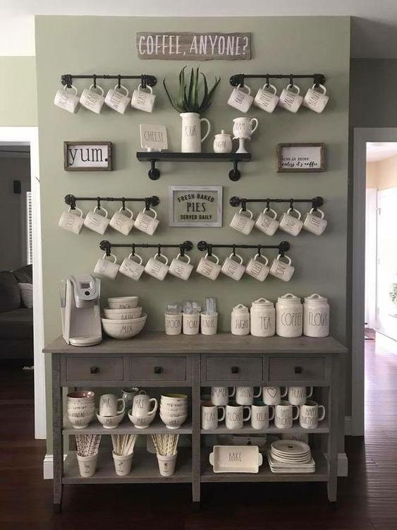 صورة أفكار مميزة لركن القهوة في منزلك