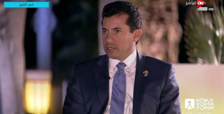 صورة وزير الرياضة: محمد صلاح أصبح مؤسسة اقتصادية.. وكان على الدولة أن تتدخل لحل أزمته