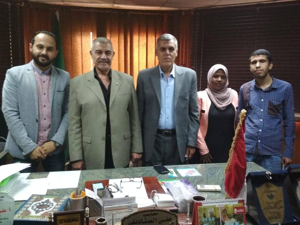 رئيس مجلس مدينة الحسينة يوافق على طلب فريق نتاج منتدى الحوار الوطني للشباب
