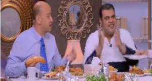عمرو أديب وأحمد فتحي يهتفان للزمالك على الهواء