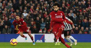 محمد صلاح يحرز هدف في نيوكاسيل يونايتد