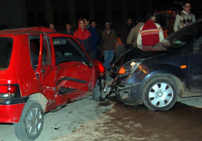 صورة مصرع مساعد مدير أمن المنيا في حادث سير