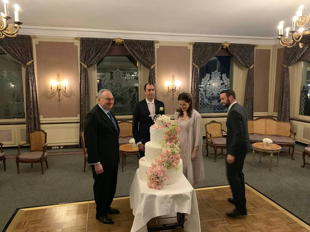 صورة حفل زفاف الأميرة فوزية حفيدة الملك فاروق