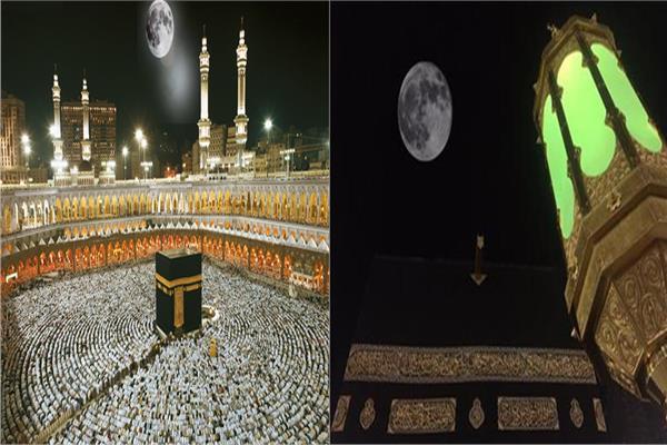 صورة اليوم.. القمر يتعامد على الكعبة المشرفة في ظاهرة مشاهدة بالعين المجردة