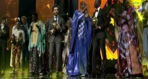 رقص محمد صلاح بعد تتويجه بجائزة أفضل لاعب في أفريقيا