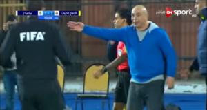 غضب حسام حسن من حكم مباراة بيراميدز والإنتاج الحربي