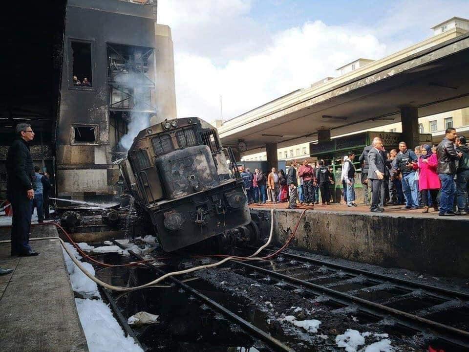 صورة ارتفاع عدد ضحايا حادث قطار محطة مصر