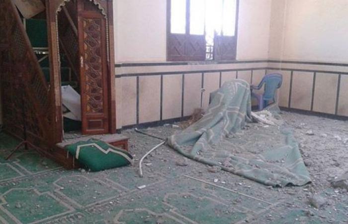 صورة انهيار مسجد على المصلين في الدقهلية