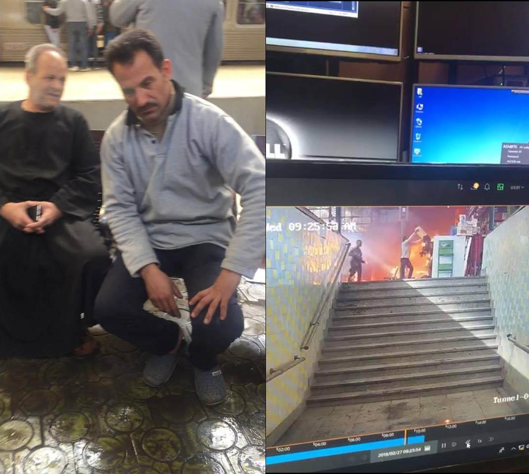 صورة بطل إنقاذ مصابي حادث قطار محطة مصر يكشف اللحظات الأولى للحادث