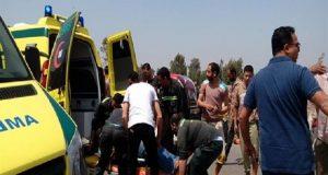 إصابة 14 شخص في حادث بطريق أبو كبير فاقوس