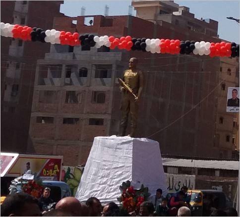 صورة افتتاح ميدان الشهيد «أحمد المنسي» بمنيا القمح