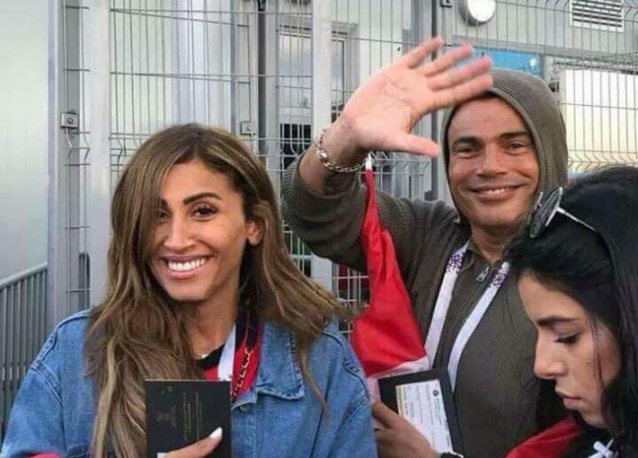 صورة إعلان زواج عمرو دياب ودينا الشربيني