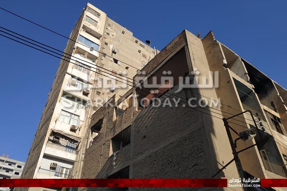 صورة محافظ الشرقية يكشف سبب انفجار شقة الزقازيق