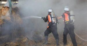 نشوب حريق هائل بشونة قطن في الشرقية