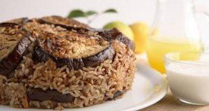إفطار 28 رمضان 2019 مقلوبة الباذنجان باللحمة الضاني
