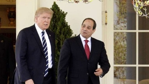 صورة ترامب : لي عظيم الشرف أن أرحب برئيس مصر في البيت الأبيض