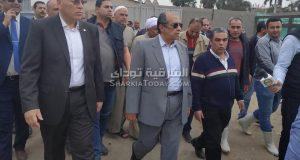 وزير الزراعة ومحافظ الشرقية بمزارع أبو حماد
