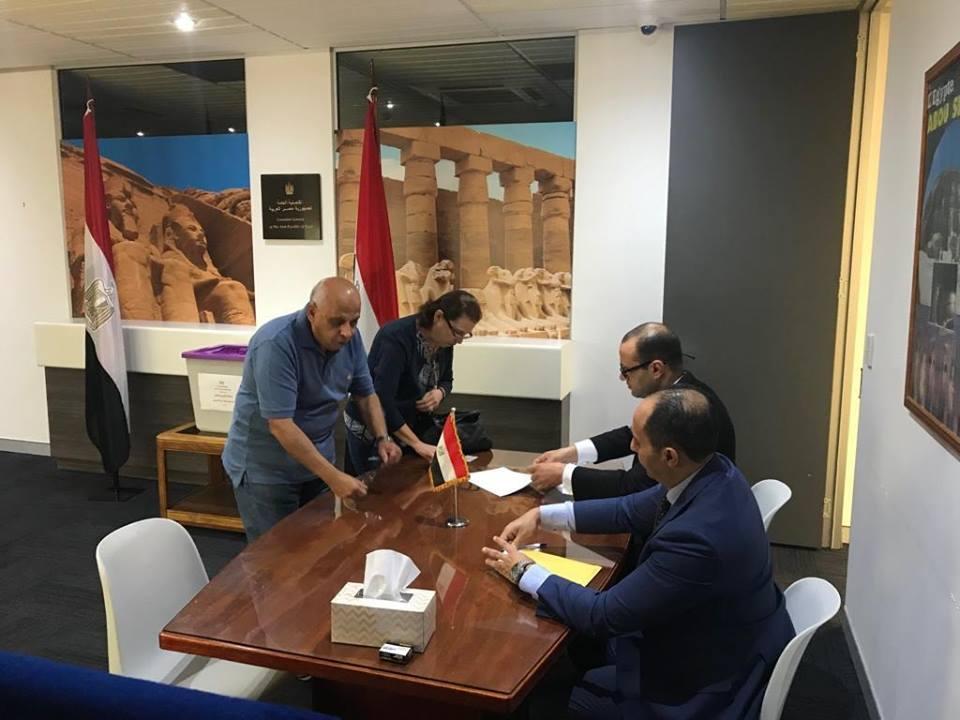 صورة مشاركة المصريين في الاستفتاء على «التعديلات الدستورية» في أستراليا