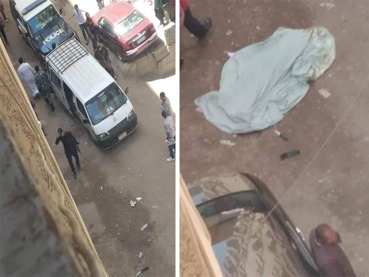 صورة شاب يمزق جسد والدته بالسكين بمنطقة الهرم