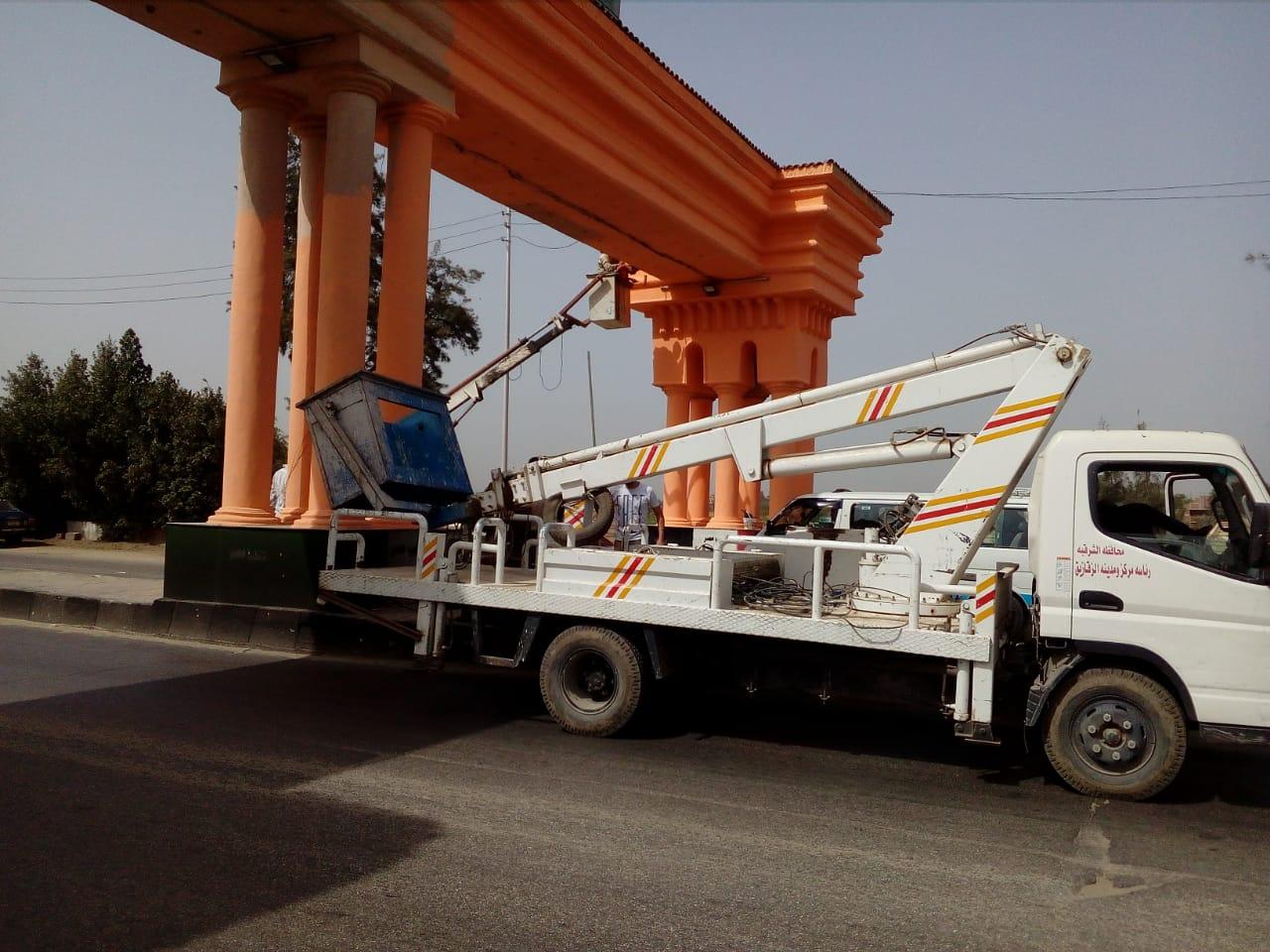 صورة حملات نظافة وتجميل بالزقازيق استعداداً لرمضان