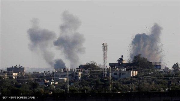 صورة قصف إسرائيلي على غزة يتسبب فى مقتل أم ورضيعتها